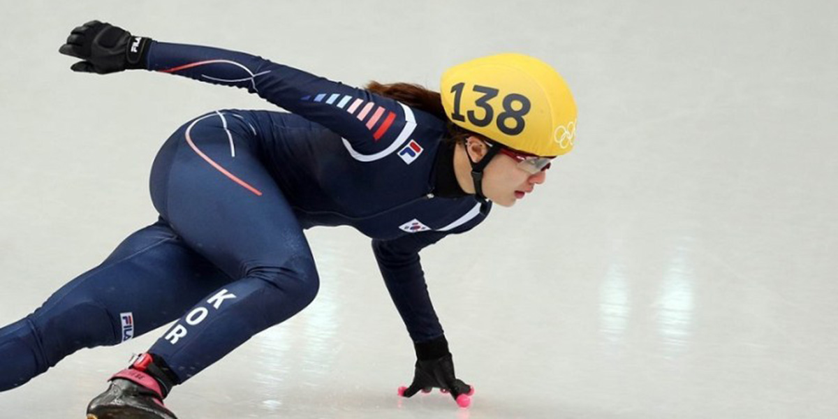 Park Seung-Hi Tries Her Luck in Speed Skating