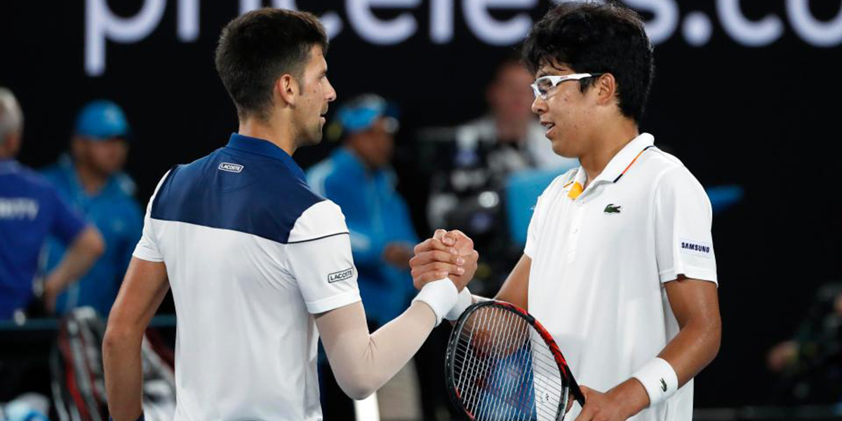 Chung Hyeon Defeats Djokovic