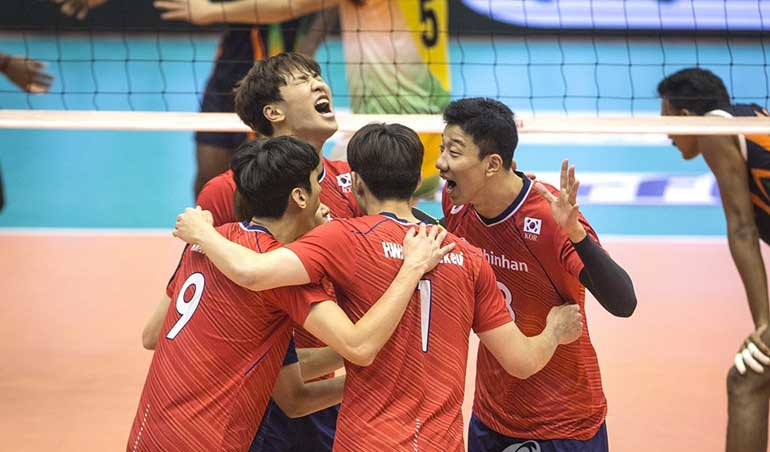 한국 남자 배구 코치 팀의 능력에 대해 자신감