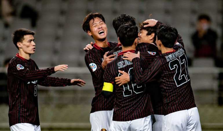 AFC 챔피언스 리그에서 고군분투 한국 축구 팀