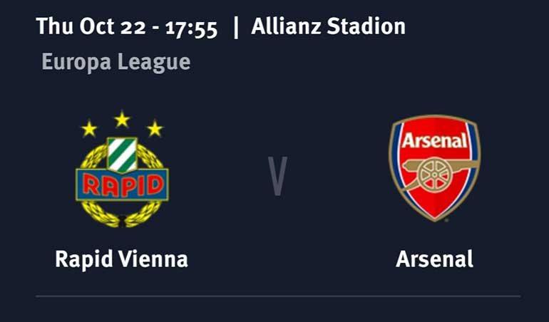 Rapid Vienna vs Arsenal Betting Pick – Europa League Round 1 Predictions