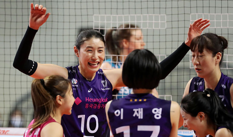 Kim Yeon-koung Shows Fighting Spirit to Win Game 3 of Playoffs