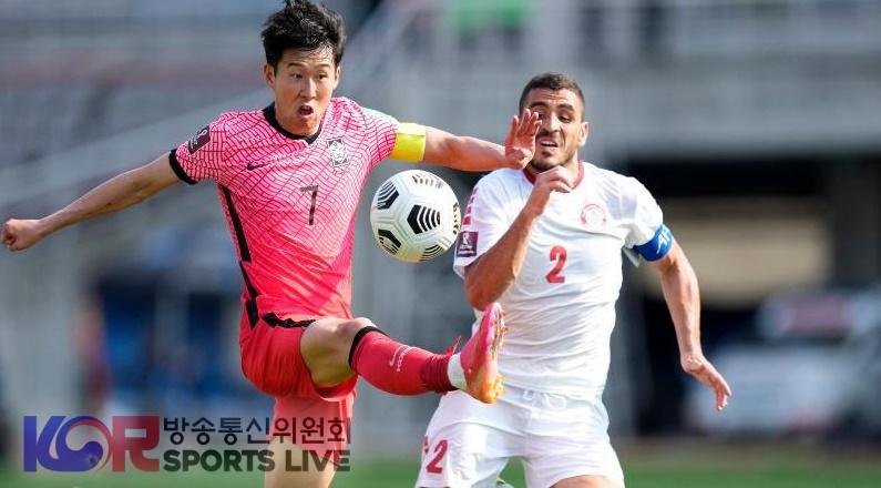 한국 아시아 월드컵 예선에서 레바논을 이겼다